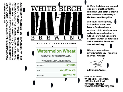 White Birch Watermelon Wheat