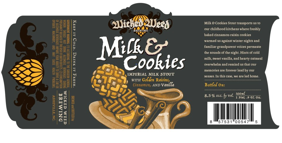 Wicked Weed Milk & Cookies Imperial Milk Stout
