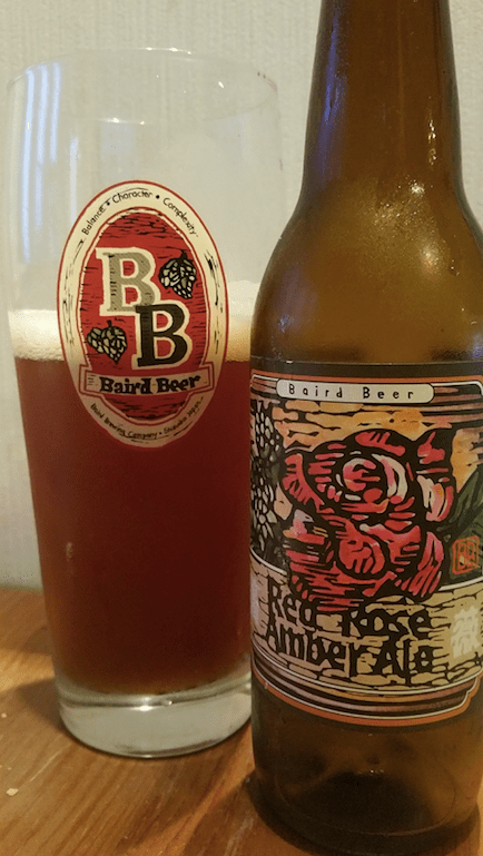 Baird Red Rose Amber Ale ベアードレッドローズ アンバーエール