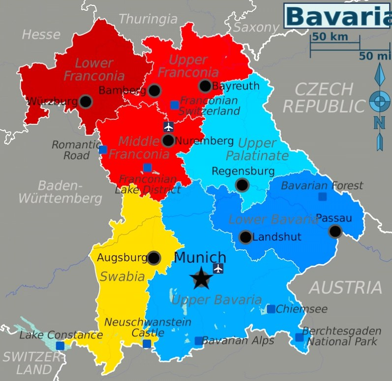 Bavaria_map_beer_hiking