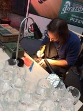 Am PU-Stand gab es kostengünstige Glaskrüge mit eigener Namensgravur