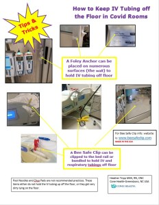 How to keep IV tubing off the floor in Covid rooms health tips