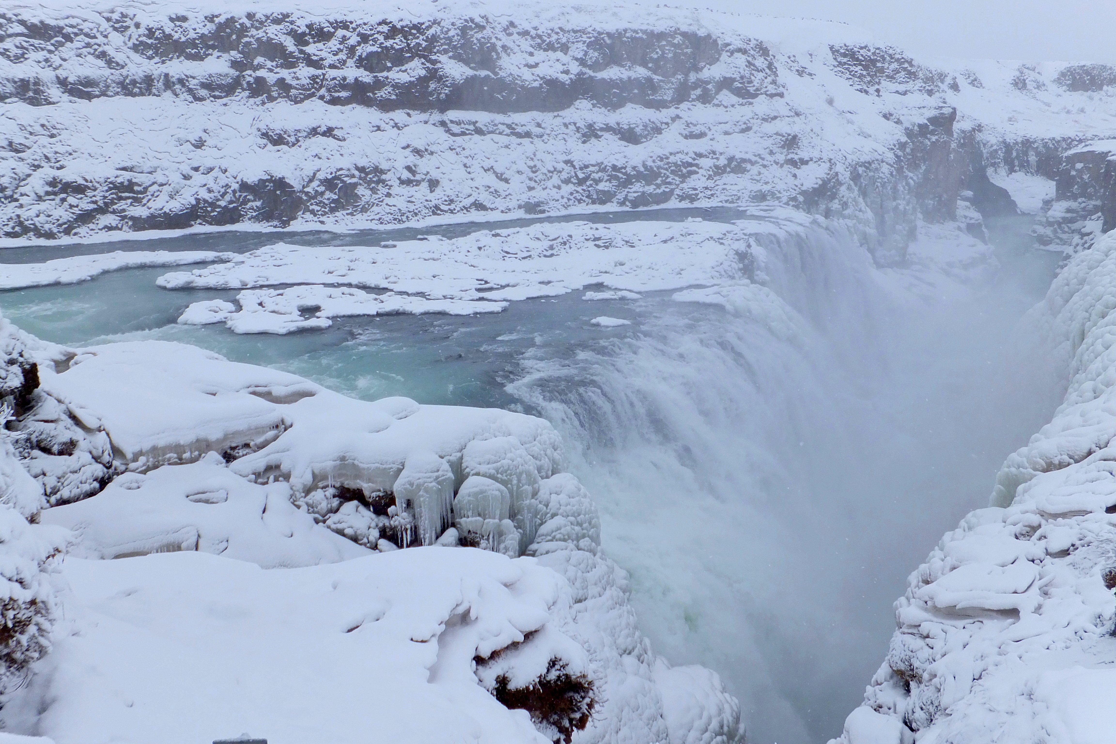 THE MIGHTY GULLFOSS NEARLY BLEW ME AWAY