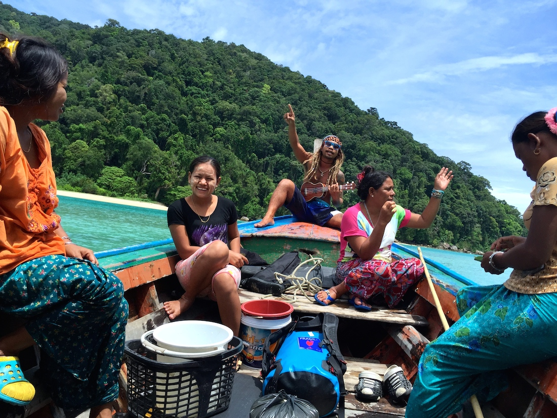 Moken women or local sea gypsies of Surin Island, Thailand