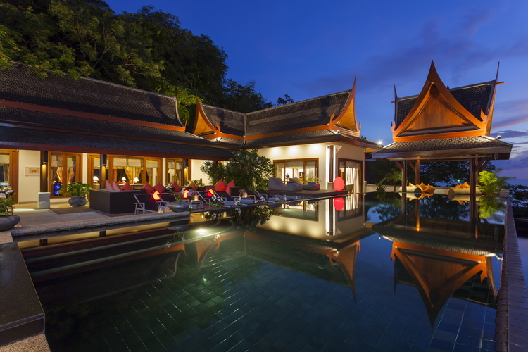 Luxury and private boutique villa with an infinity pool on the hill side of Surin Beach, Phuket, Thailand. Photo from baanphuprana.com/