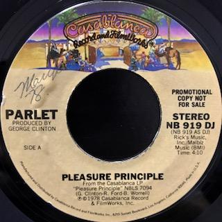 "Parlet / Pleasure Principle (7"")"