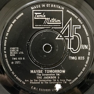 "The Jackson 5 / Maybe Tomorrow (7"")"