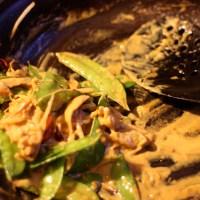 Stir-Fried Shrimp and Snow Peas with Coconut Curry Sauce