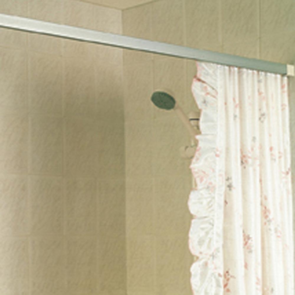 showerdrape showertrack straight shower curtain rail 36 915mm silver ref s36s