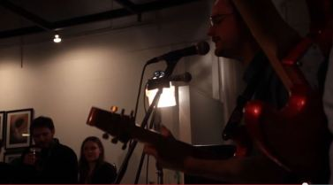 The Dust on the Moth campaign launch party at City Arts - stills from a video by Leonie McQuillan