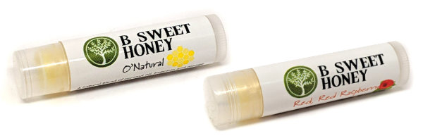 O'Natural and Red Red Raspberry Lip Balm