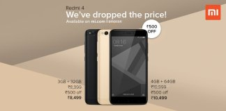 Xiaomi Redmi 4 price drop