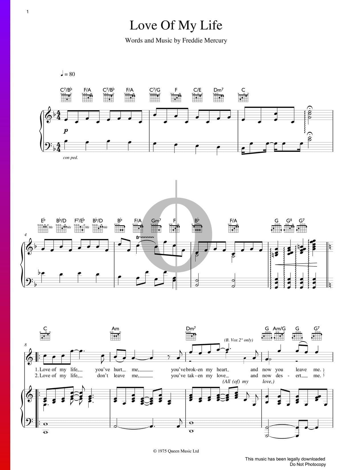 Music Of My Life Streaming : music, streaming, Sheet, Music, (Piano,, Voice,, Guitar), Download, Streaming, OKTAV