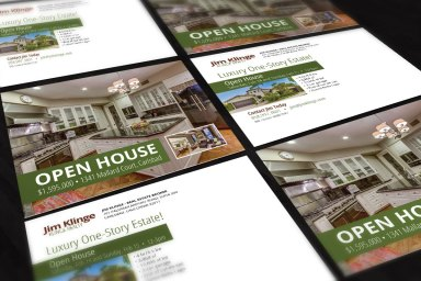 Jim Klinge Open House Postcard