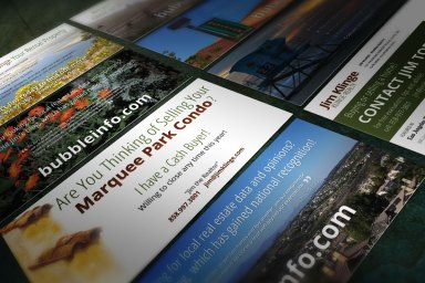 Various Rack Card Designs for Klinge Realty