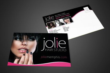 Jolie Hair Studio Postcard