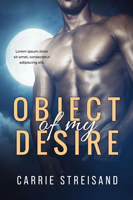 Object Of My Desire - Supernatural Romance / Paranormal Romance Premade Book Cover For Sale @ Beetiful Book Covers