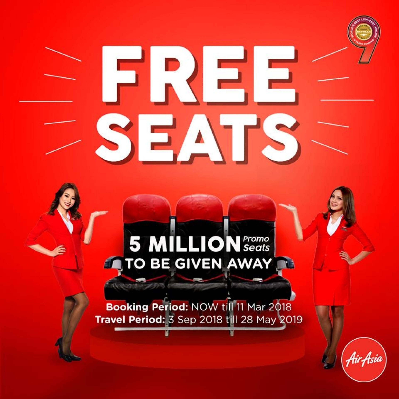 AirAsia 免費機票優惠來了!最低只需RM15!臺北,釜山,香港,曼谷都有優惠!快點去搶機票吧!