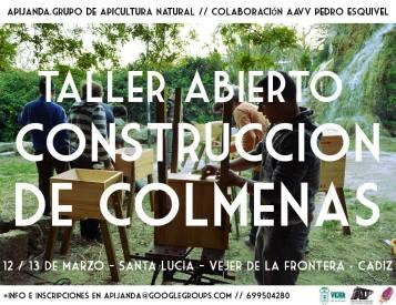 cartel-taller-abierto-construccion-colmenas