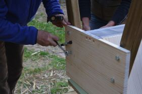 Hive making workshop, Spring 2015