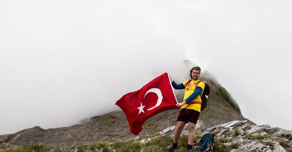 Bandiera Turca Montagna