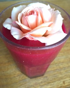 Rose strawberry bliss smoothie