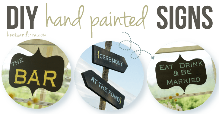 DIY hand painted signs {yes you can!}