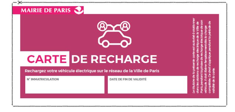 Carte de recharge voiture électrique Professionnel Paris