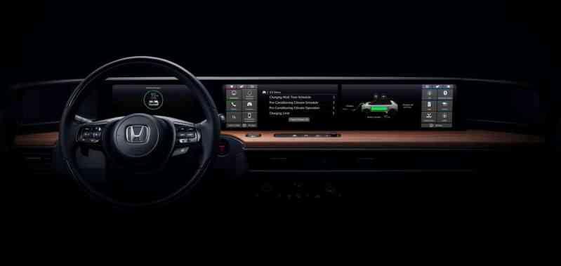 tableau de bord 100 % digital Honda électrique