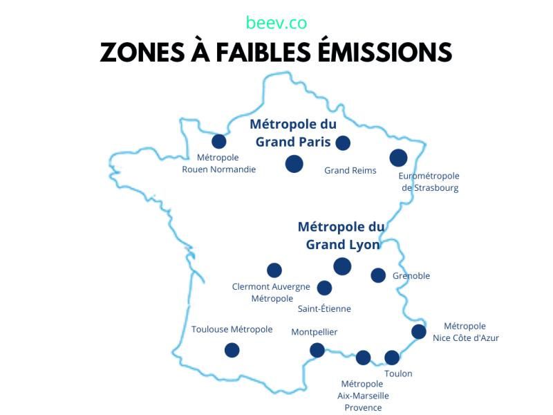 ZFE Zones à faibles émissions France
