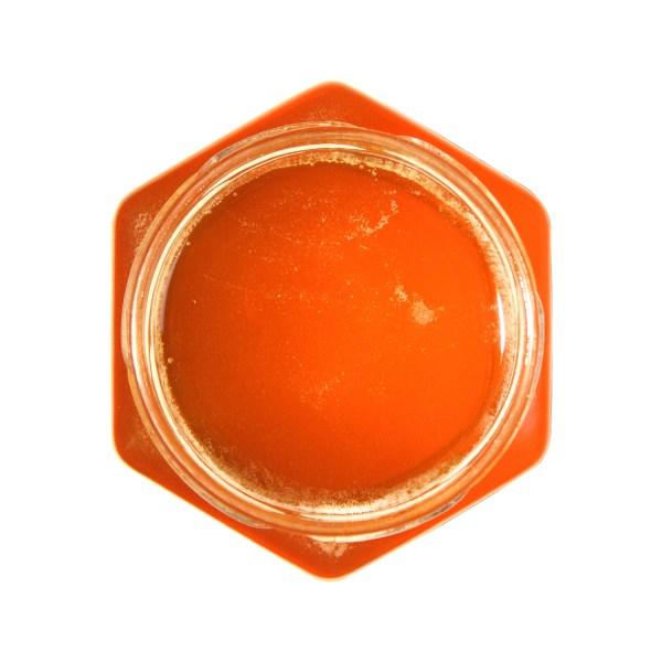 rauwe linde honing potje open