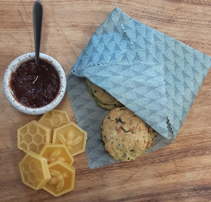 medium coastal collection beeswax wrap wrapping up some scones