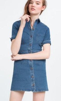 Vestido denim de Zara