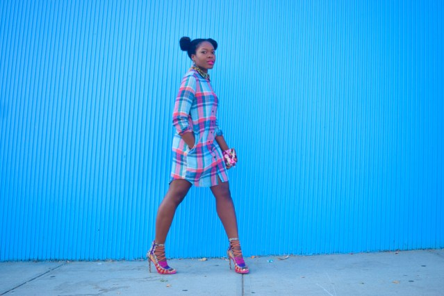 Pre NYFW | Plaid Shirtdress