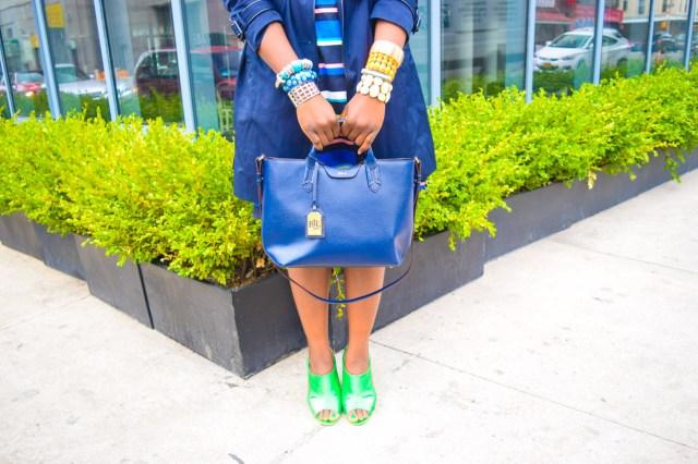 Befitting Style Oyinkan Wearing Trench Jacket and Shirtdress 15