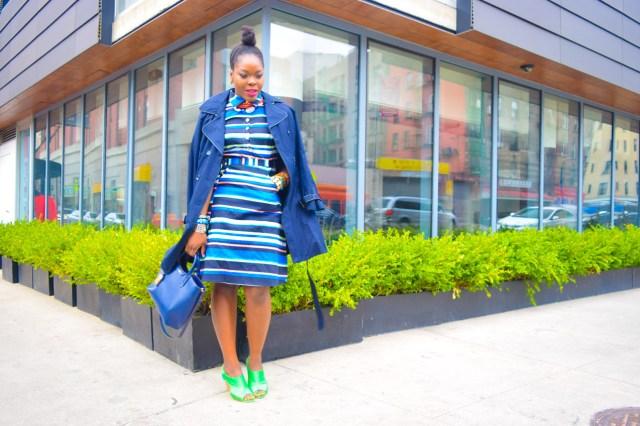 Befitting Style Oyinkan Wearing Trench Jacket and Shirtdress 4