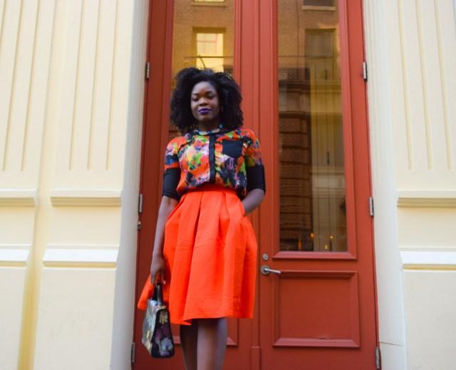 Befitting Style Red Full Skirt Color Block Top 15