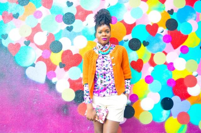 Befitting Style Oyinkan Wearing Brights Button Down w- khaki shorts 8