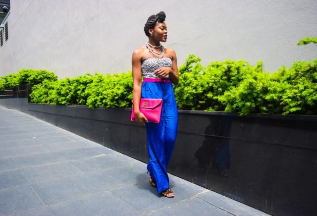 Befitting Style Oyinkan Wearing Cobalt Blue Full Leg Pants 21