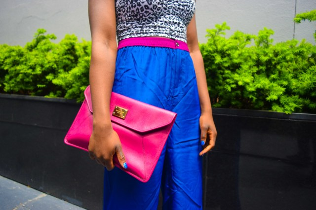 Befitting Style Oyinkan Wearing Cobalt Blue Full Leg Pants 26