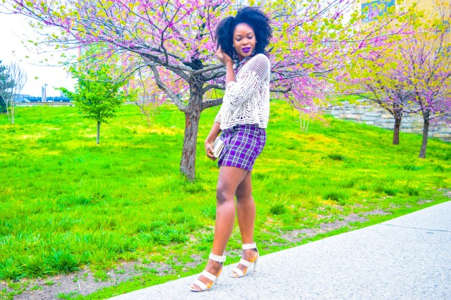 How I Style | Purple Plaid Skirt