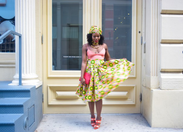 Befitting Style Oyinkan Wearing Ankara Print Skirt With Crop Top 4