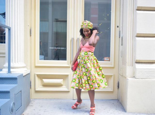Befitting Style Oyinkan Wearing Ankara Print Skirt With Crop Top 5