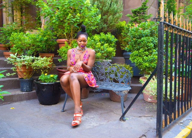 How I Style | Floral Plunging Neckline