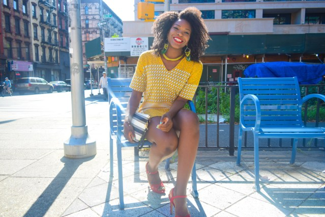 Not Your Average T-Shirt Dress | Yellow Printed Casual Dress