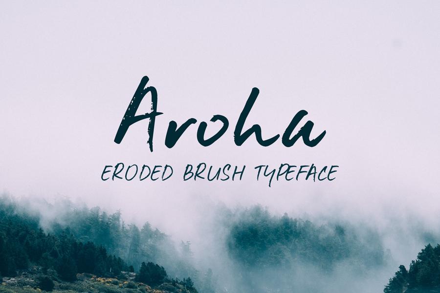 Download Aroha Brush Font - Befonts.com