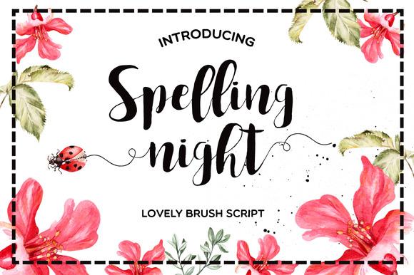 Spelling Night Font  Befontscom