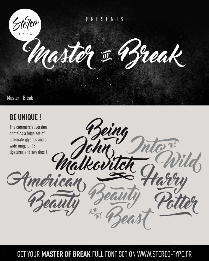 Download Font Corel Draw X7 Terbaru : download, corel, terbaru, Master, Break, Befonts.com