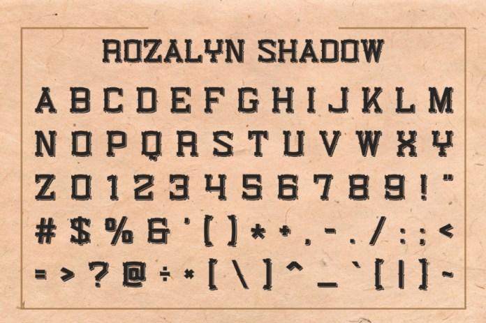 Rozalyn Shadow Typeface