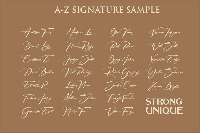 Download Signatrue Elegant Signature Font - Befonts.com